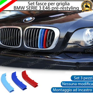 BMW SERIE 3 E46 FINO AL 2003 COVER PER GRIGLIA IN STILE BMW M SPORT CALANDRA