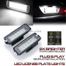 2X LED License Plate Light FOR Bentley Porsche Seat Skoda VW Golf Passat B6 CC