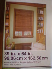 "Style Selections Monterey Bamboo Flat Fold Shade 39""x 64"" #0050315"