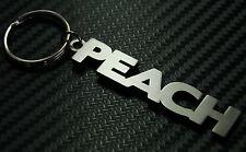 PESCA Peachy Alla frutta Soprannome Personalizzato Portachiavi Key Steel Regalo