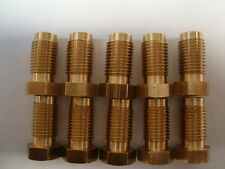 Brass Male Brake Pipe Fittings Unions - 3/8 UNF x 24TPI (Suits 3/16 Pipe) QTY 10