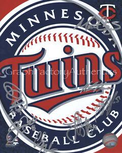 2012 MN Minnesota Twins Auto Signed 8x10 Photo COA GFA Perkins Capps and More