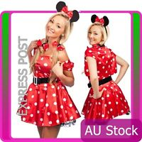 Ladies Minnie Mickey Mini Mouse Costume Fancy Dress Halloween Hens Disney Outfit