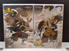 MIGHTY MORPHIN POWER RANGERS #7 NYCC 2016 SAMURAI VARIANT SET BLACK GOLDAR