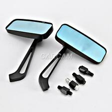 Rectangle Black Mirrors For Harley Davidson Sportster Nightster Roadster 1200