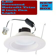"""6 PIECES - 6"""" RECESSED LED CAN LIGHT DOWNLIGHT RETROFIT KIT 12WATTS BUILT-IN LED"""