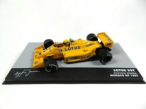 Formule 1 Lotus 99T Ayrton Senna Vainqueur GP Monaco 1987 - 1/43 Voiture F1 708