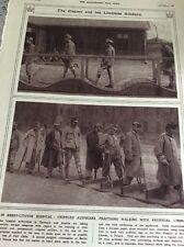 74-3 Ephemera Ww1 1916 Picture Brest Litovsk Hospital Walking Wounded 1 Page