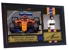 Nuevo 2018 Fernando Alonso firma autógrafa de fórmula 1 foto firmada impresión enmarcado