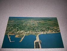 1960s AERIAL TOWN VIEW of SUMMERSIDE PEI VTG PHOTO POSTCARD