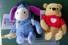 Disney~Cupid Eeyore & Red Sweater Pooh~Mini BB Set