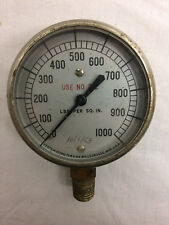 Vintage 1953 Motometer Gauge LaCrosse WI. LBS per Square Inch