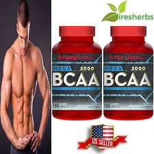 MEGA BCAA 2000 mg *BRANCH CHAIN AMINO ACID* MUSCLE GROWTH SUPPLEMENT 360 CAPLETS