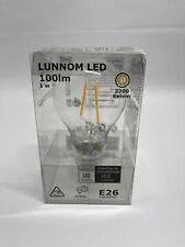 Ikea Lunnom 203.821.83 Led Bulb E26 100 Lumen Globe Clear Glass