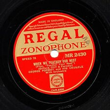GREAT 1937 GEORGE FORMBY 78 WHEN WE FEATHER OUR NEST /YOU'RE A LI-A-TY MR2430 EX