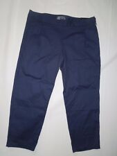 Nike women's Navy Major Moments slim fit cropped Golf Pants size 10 retail $110