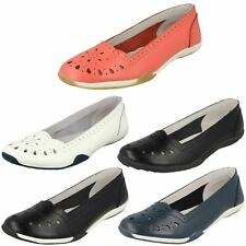 Ladies Down To Earth Flat Comfort 'Ballerina Shoes'