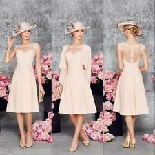 Plus Size Lace Pink Tea Length Mother of the Bride suit outfit Formal Mum Dress