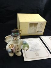 Lenox Joyful Tidings Ivory Snowman Porcelain Figurine 2000 Christmas Ornament