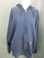 CARHARTT SIZE XL MENS NAVY ATHLETIC FULL ZIP COTTON HOODED JACKET T318