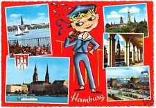 AK, Hamburg, fünf Abb., gestaltet, um 1966