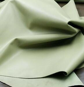 Green Calf Leather Hide Crafts Binding Handbag Wallet Upholstery Lining Sheath