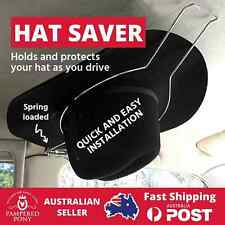 Car Hat Holder Saver Equestrian Riding Helmet Akubra Hard Hat Spring Loaded New