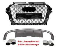 Pour Audi A3 8V 12-15 S3 S-LINE Regardez Calandre Nid D'Abeille De