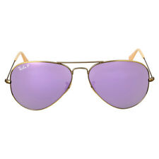 Ray Ban Aviator Polarized Lilac Flash Sunglasses RB3025 167/1R 58