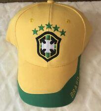 Brasil FIFA World Cup Adjustable Penalty Spot Soccer Cap Hat #A9
