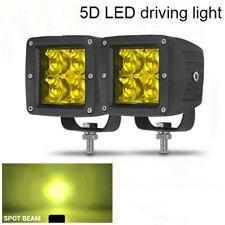 3inch LED Work Light Cube Pods Driving Work Fog Spot Light Truck Off Road Yellow