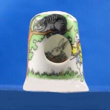 Birchcroft China Thimble -- Peephole -- Alice in Wonderland -- Free Dome Box