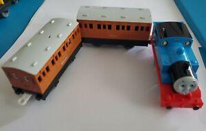 "TOMY Trackmaster Thomas & Friends THOMAS"" ANNIE & CLARABEL"" Lot Motorized Train"