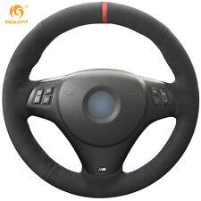Non-Slip Black Suede Car Steering Wheel Cover Wrap for BMW M3 2009-2013 #BM115