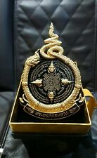 Rare Thai Car Amulet Yant LP.Thongchai For Lucky And Safety Protect