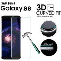 Genuine tempered 3D glass Clear screen hard protector for Samsung Galaxy S8