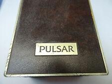 Watch Box And Manual Warranty Card. Vintage 1988 Brown Pulsar Analog Quartz