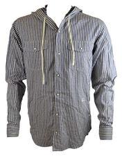 Camicie casual e maglie da uomo blu aderente a righe