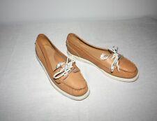 Sebago Docksides Dock 2 Eye Tan Leather Boat Shoes Women's Sz 9M
