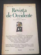 REVISTA DE OCCIDENTE nº 1 (Abril, 1963) - Segunda época