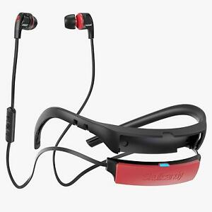 Skullcandy Smokin' Buds 2 in-Ear Bluetooth Earbuds with Microphone (Black/Red)