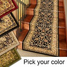 25' Stair Runner Rugs - Marash Luxury Collection Stair Carpet Runners Black