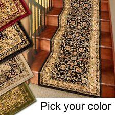 25' Stair Runner Rugs - Marash Luxury Collection Stair Carpet Runners Black