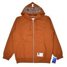 NWT Supreme Champion Men's Brown Arc Logo Full Zip Hoodie Sweatshirt L AUTHENTIC