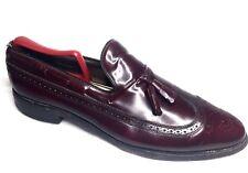 Allen Edmonds Wingtip Tassel Burgundy Shoes Men's Size 10.5C