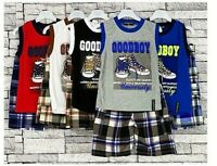 Boys Girls Kids 2 Piece Summer Set Vest T-Shirt with Shorts Sport set 2-12 Year