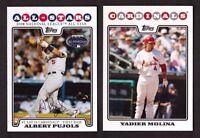 2008 Topps ST. LOUIS CARDINALS Team Set w/ Update 32 Cards MINT
