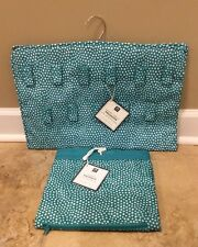 New 2Pc Pottery Barn Teen Laundry Backpack + Hanging Jewelry Baltic Mini Dot