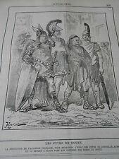 Caricature 1884 Les Fêtes de Rouen Les costumes des Héros du poète