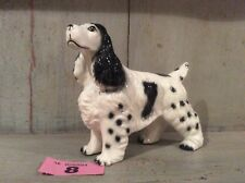 Cocker Spaniel Dog Porcelain Ornament,Spaniel Dog Figure